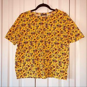 NWT Yellow Floral Zara T-Shirt!